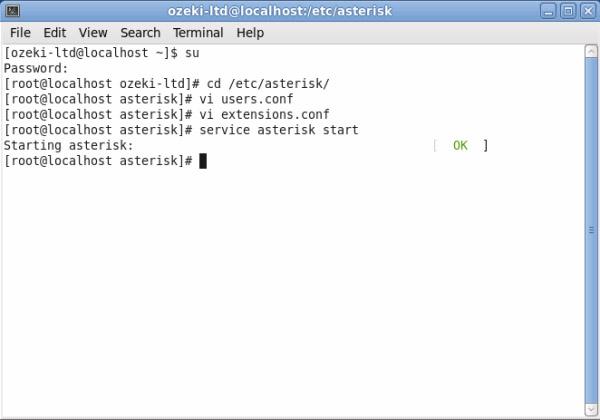 Ozeki VoIP PBX - How to setup Ozeki Phone System XE with Asterisk